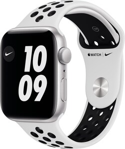 Watch Nike SE (44mm) GPS mit Nike Sportarmband silber/pure platinum/schwarz