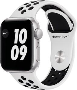Watch Nike SE (40mm) GPS mit Nike Sportarmband silber/pure platinum/schwarz