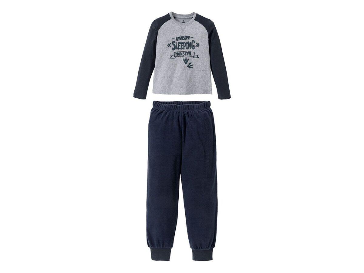 Bild 1 von PEPPERTS® Jungen Pyjama, Shirt aus Baumwolle, Hose in Fleece-Qualität