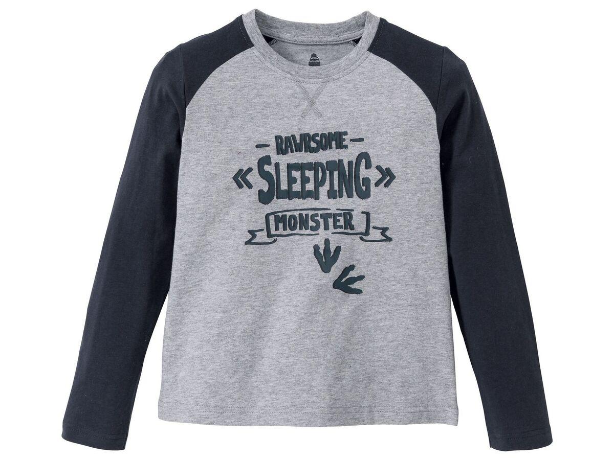 Bild 2 von PEPPERTS® Jungen Pyjama, Shirt aus Baumwolle, Hose in Fleece-Qualität