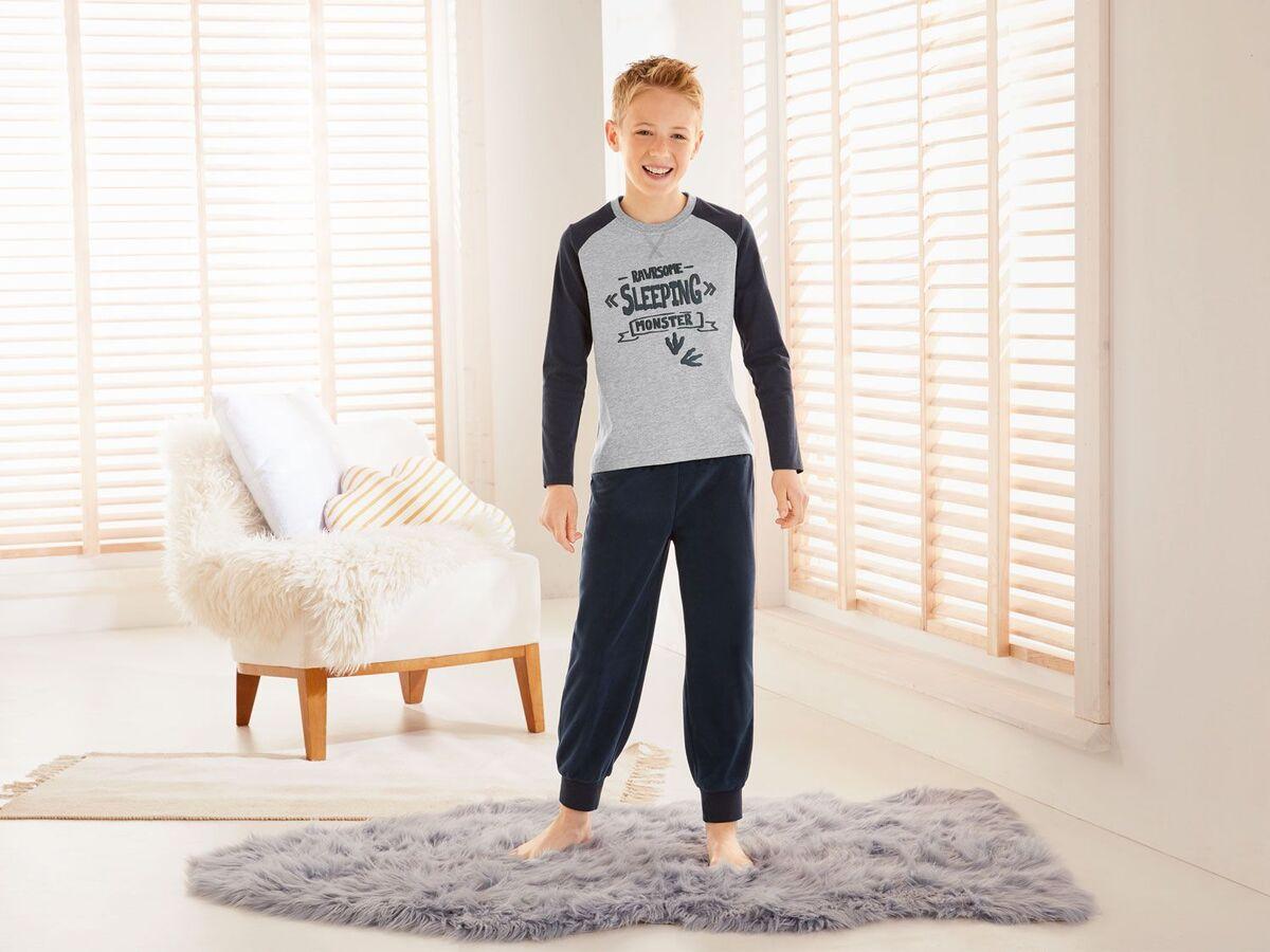 Bild 3 von PEPPERTS® Jungen Pyjama, Shirt aus Baumwolle, Hose in Fleece-Qualität