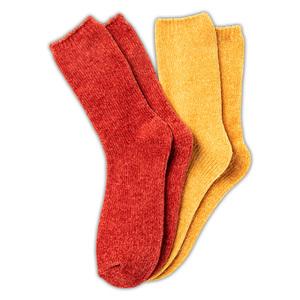 Ellenor Chenille-Socken 2 Paar