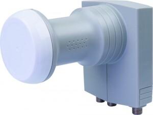 Schwaiger Unicable Quad LNB SPS6942 531, digital anthrazit mit Wetterschutz für 4 Teilnehmer