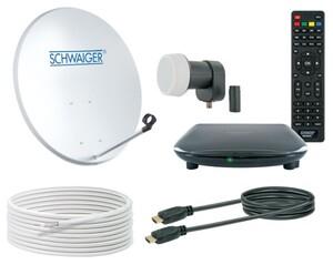 Schwaiger Satellitenkomplettanlage mit HDTV Empfang für einen Teilnehmer