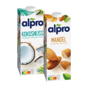 Alpro Mandel-, Kokosnuss-, Cashew-, Haselnuss- oder Protein Soya Drink