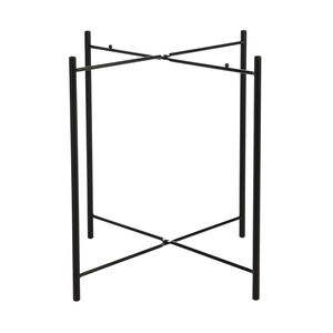 Tischgestell Metall, D:45cm x H:46cm, schwarz