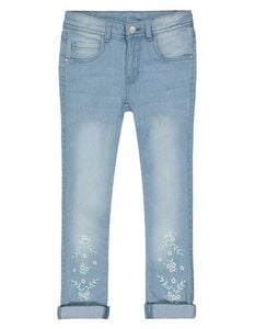 Mädchen Jeans mit Blumenstickerei