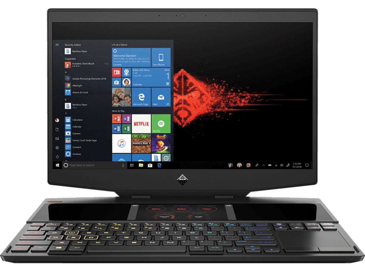 Bild 2 von HP OMEN X 15-dg0350ng, Notebook mit 15.6 Zoll Display, Core™ i9 Prozessor, 16 GB RAM, 512 GB SSD, 512 GB SSD, GeForce RTX™ 2080, Schwarz