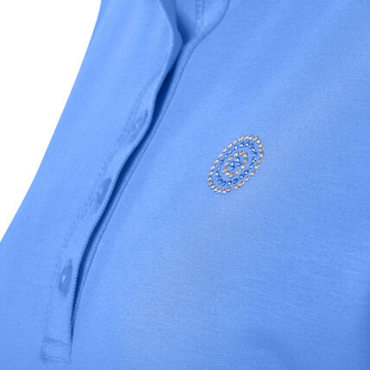 """Bild 3 von Adagio Poloshirt """"Tory"""", 3/4 Ärmel, Strass, Pima Cotton, für Damen"""