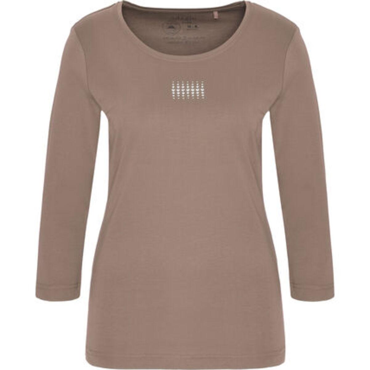 """Bild 1 von Adagio T-Shirt """"Angie"""", 3/4 Ärmel, Strass, Pima Cotton, für Damen"""