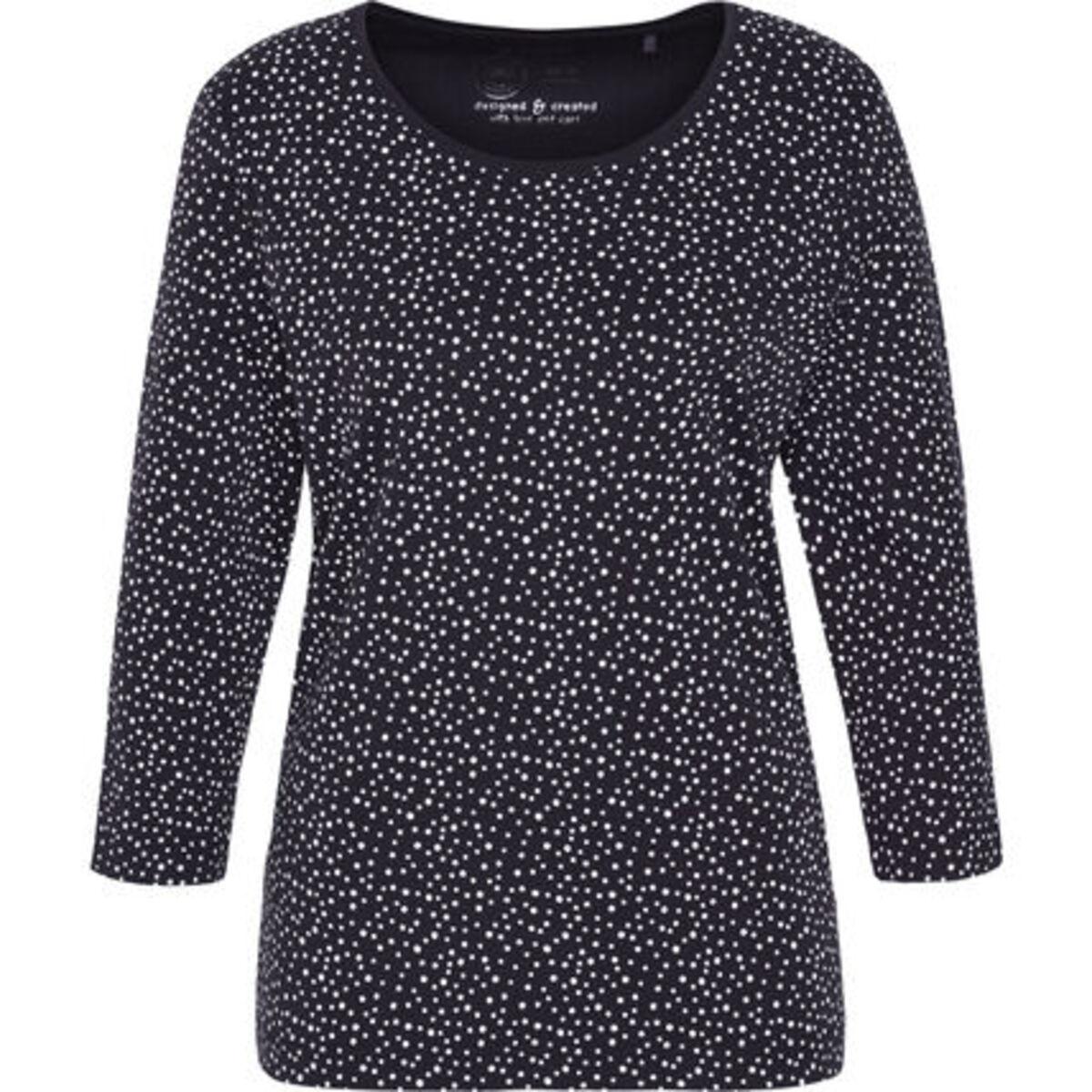 """Bild 1 von Adagio T-Shirt """"Svenja"""", 3/4 Ärmel, Punkte, Pima Cotton, für Damen"""