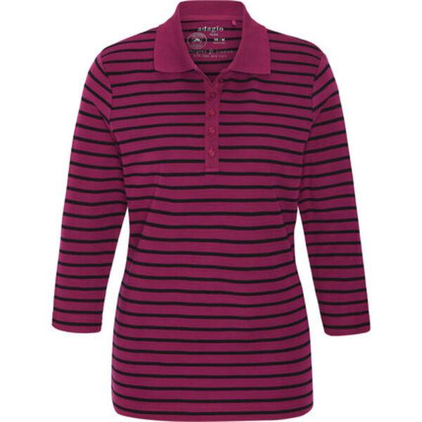 """Adagio Poloshirt """"Tilda"""", 3/4 Ärmel, Streifen, Pima Cotton, für Damen"""