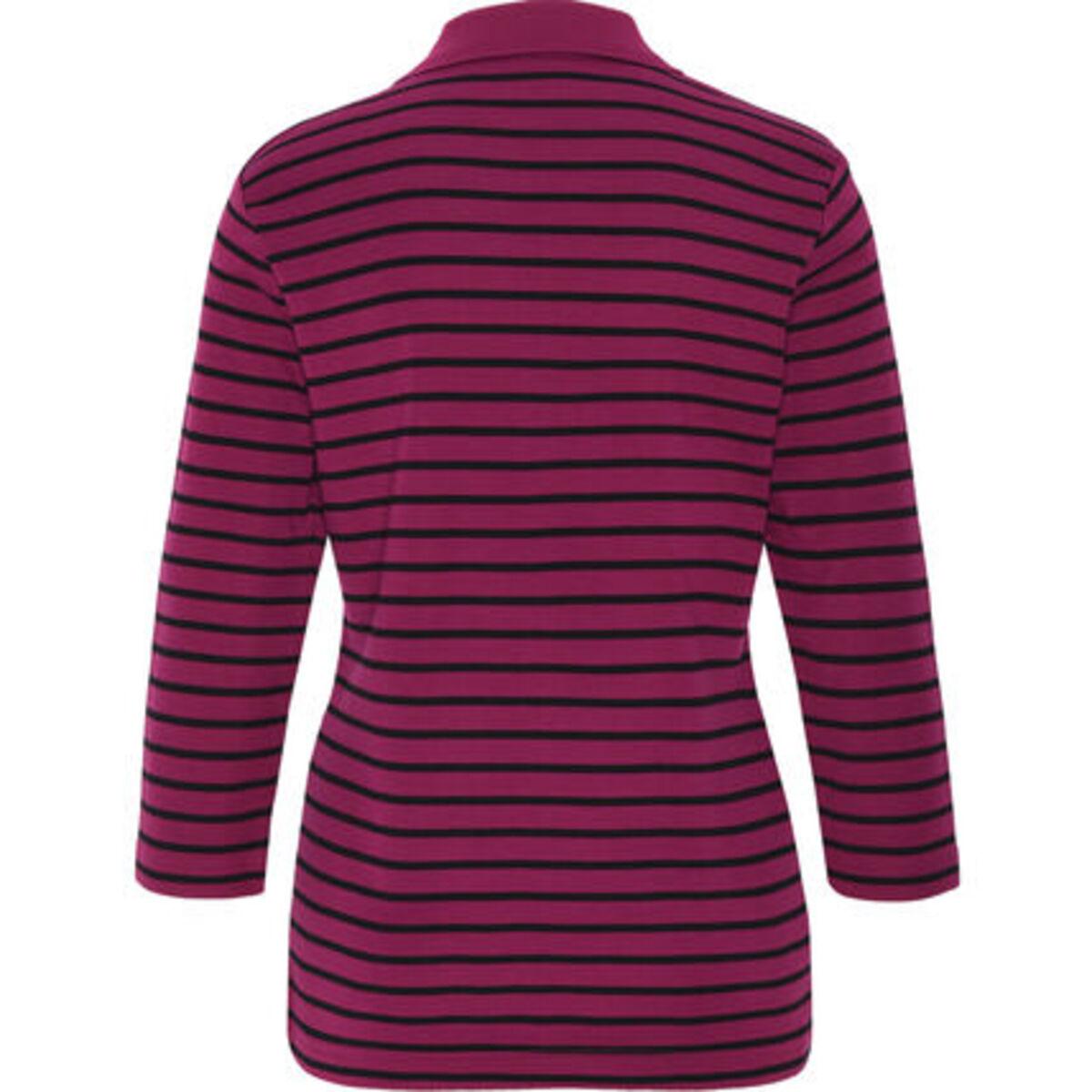 """Bild 2 von Adagio Poloshirt """"Tilda"""", 3/4 Ärmel, Streifen, Pima Cotton, für Damen"""