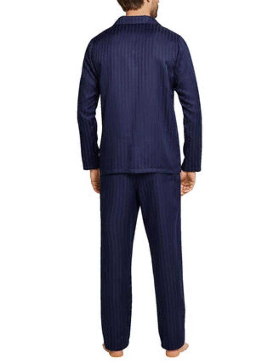 Bild 2 von Seidensticker Herren Pyjama durchgeknöpft, Websatin Basic Line