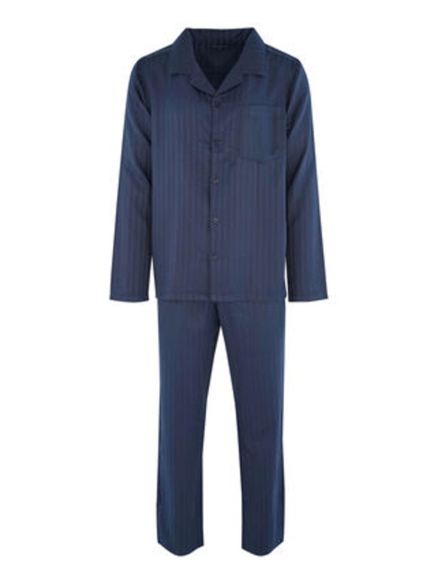 Bild 4 von Seidensticker Herren Pyjama durchgeknöpft, Websatin Basic Line