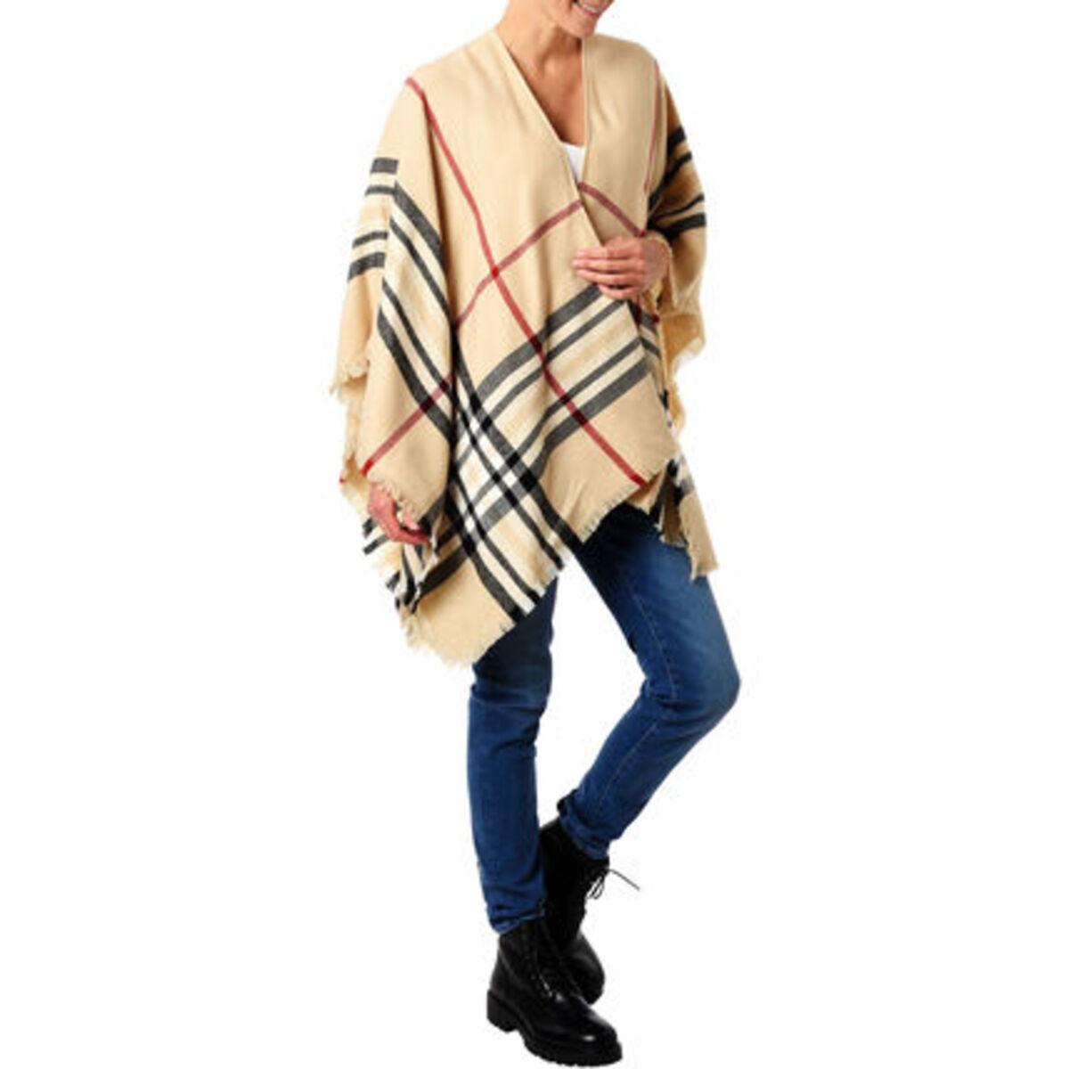 Bild 1 von Adagio Damen Poncho, Karo-Muster, für Damen