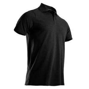 Golf Poloshirt Kurzarm Herren dunkelgrau meliert