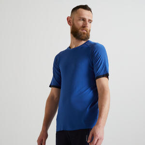 T-Shirt 900 Fitness Cardio Herren blau
