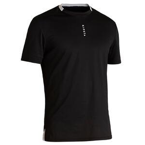Fussballtrikot F100 Ecodesign Erwachsene schwarz