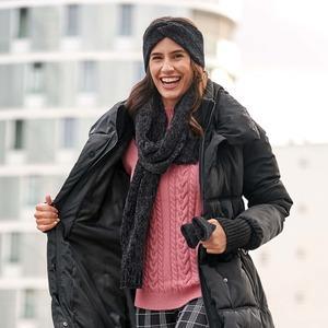 Damen-Pullover mit Spitze am Arm