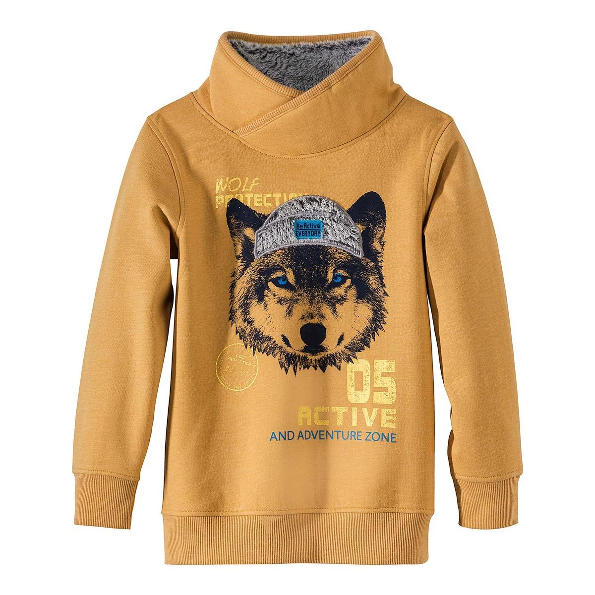 Bild 1 von Kinder-Jungen-Sweatshirt mit coolem Wolf-Print