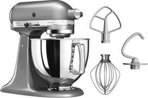 KitchenAid Küchenmaschine Artisan 5KSM125ECU Kontur-Silber, 300 W, 4,8 l Schüssel