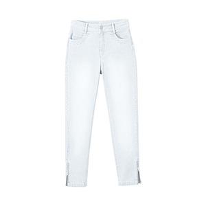 Damen-Jeans mit Zipper am Beinende