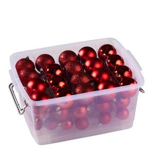 X-Mas Christbaumkugel rot , 871125249046 , Kunststoff , 4  cm Schubladen , 27.5x17x35 cm , glänzend, matt , 0062870222