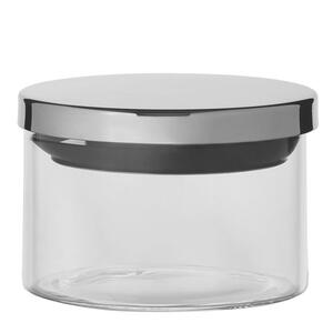 Homeware Vorratsdose 0,4 l , Kh244 , Edelstahlfarben , Glas , 7 cm , lebensmittelecht , 006151002201
