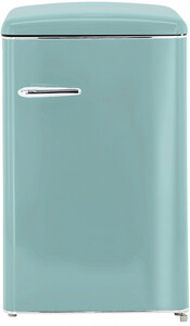 Exquisit Vollraum-Kühlschrank RKS 120-16 RVA++ Türkisblau