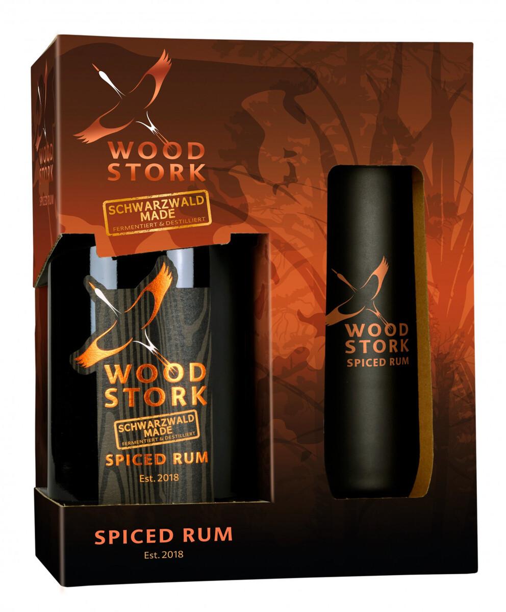 Bild 1 von Wood Stork Spiced Rum, Geschenkpackung mit Glas