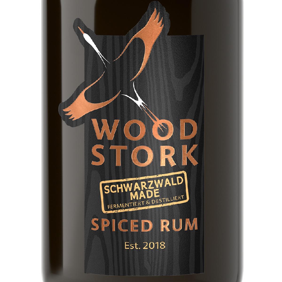 Bild 3 von Wood Stork Spiced Rum, Geschenkpackung mit Glas