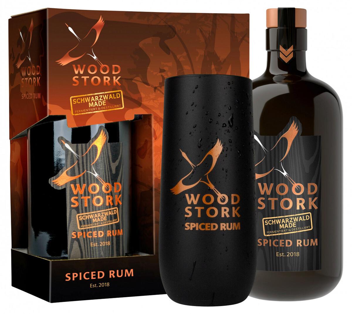Bild 5 von Wood Stork Spiced Rum, Geschenkpackung mit Glas