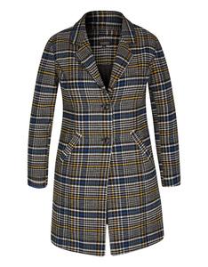 Viventy - Karo-Mantel im Blazer-Style und Wolloptik