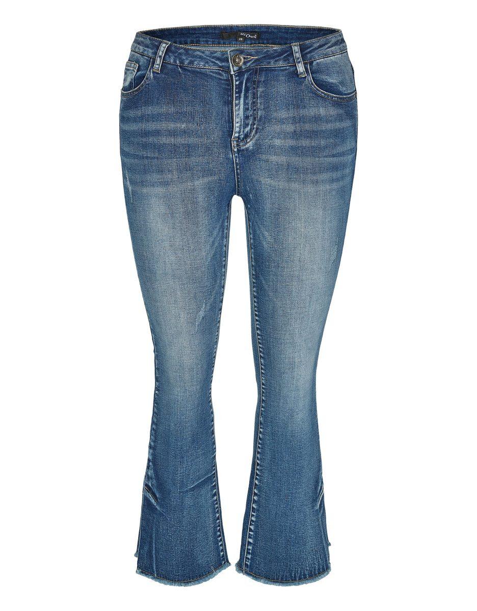 Bild 1 von My Own - 5-Pocket-Jeans mit ausgestelltem Bein und Fransen