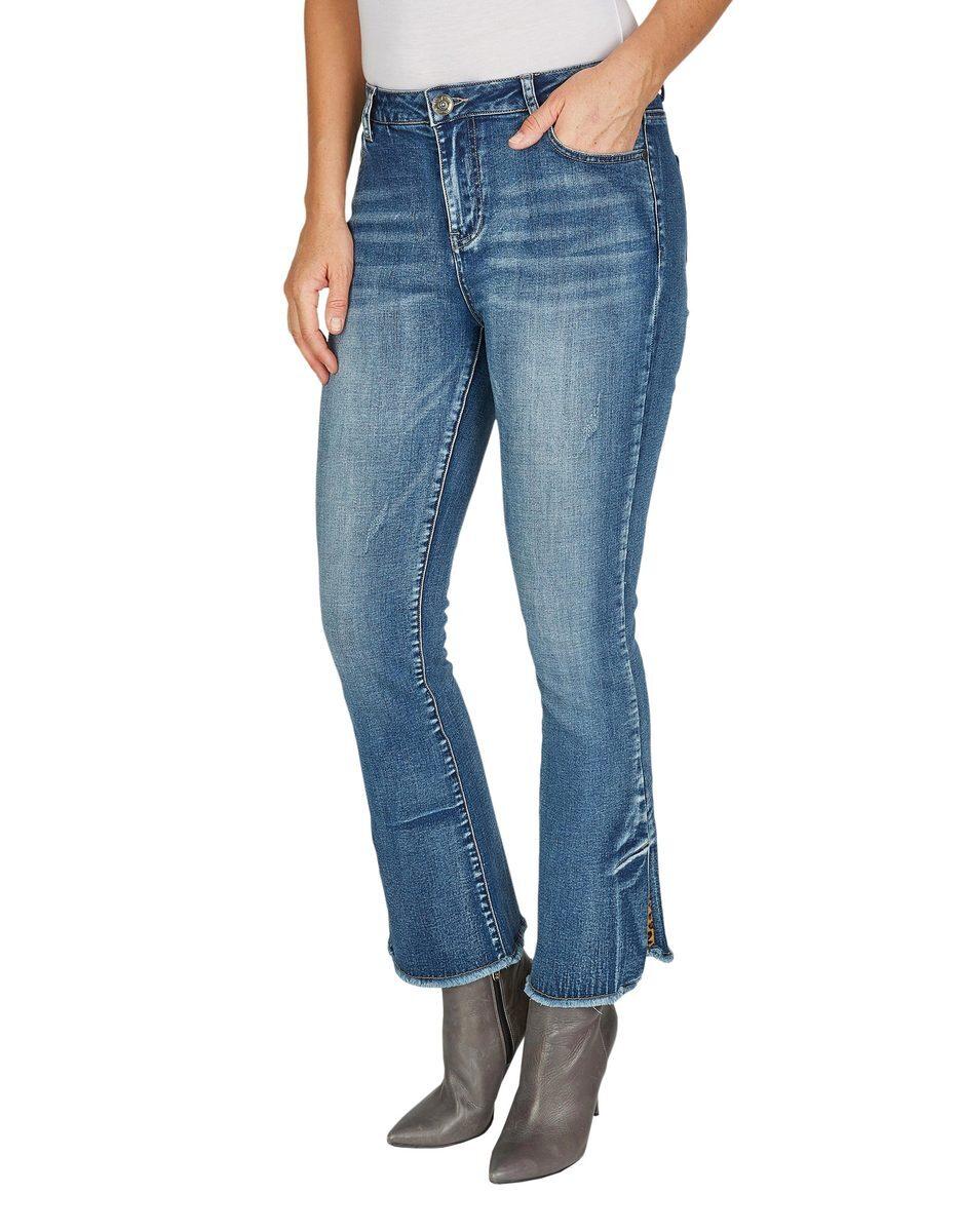 Bild 2 von My Own - 5-Pocket-Jeans mit ausgestelltem Bein und Fransen