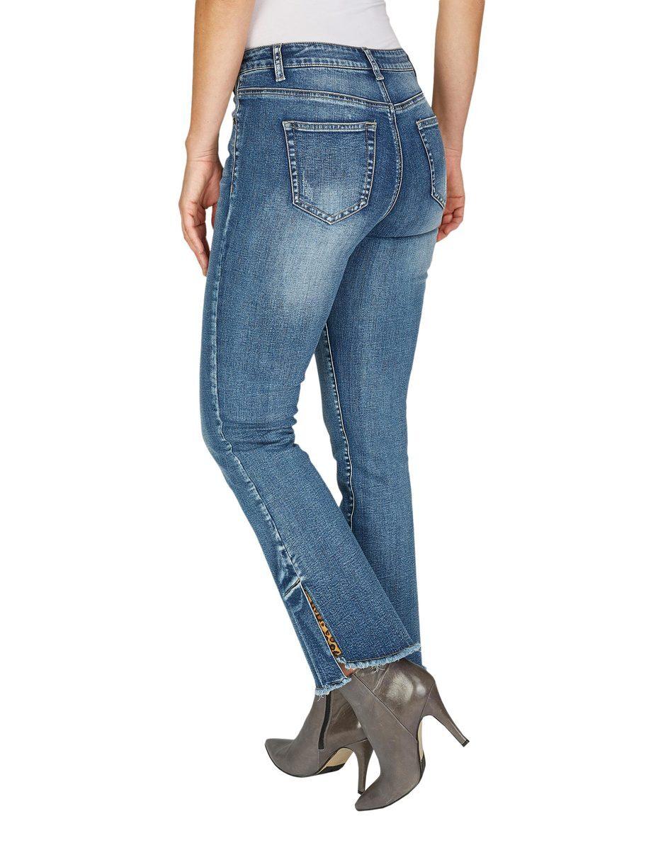 Bild 3 von My Own - 5-Pocket-Jeans mit ausgestelltem Bein und Fransen