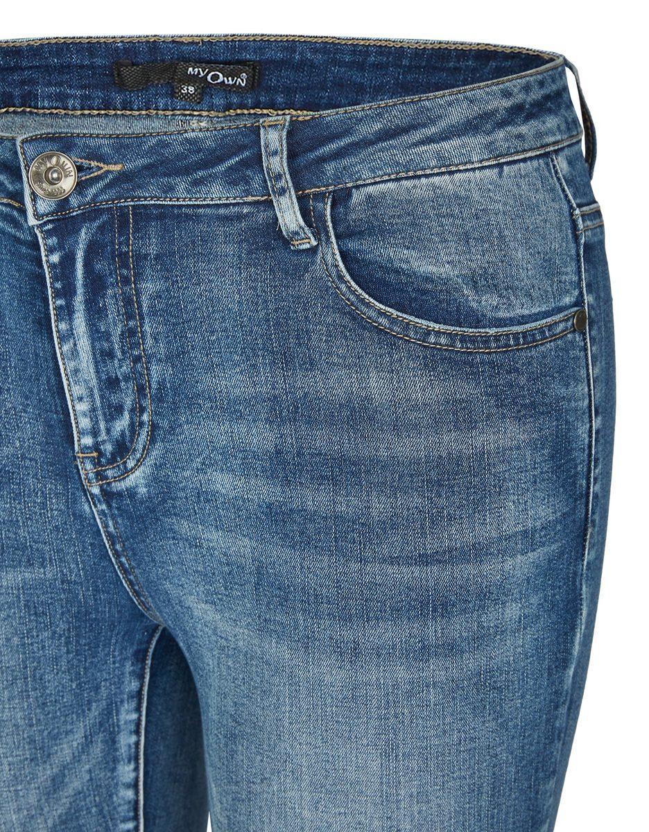 Bild 4 von My Own - 5-Pocket-Jeans mit ausgestelltem Bein und Fransen