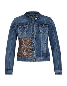 My Own - Jeansjacke mit Kupfer-Pailletten