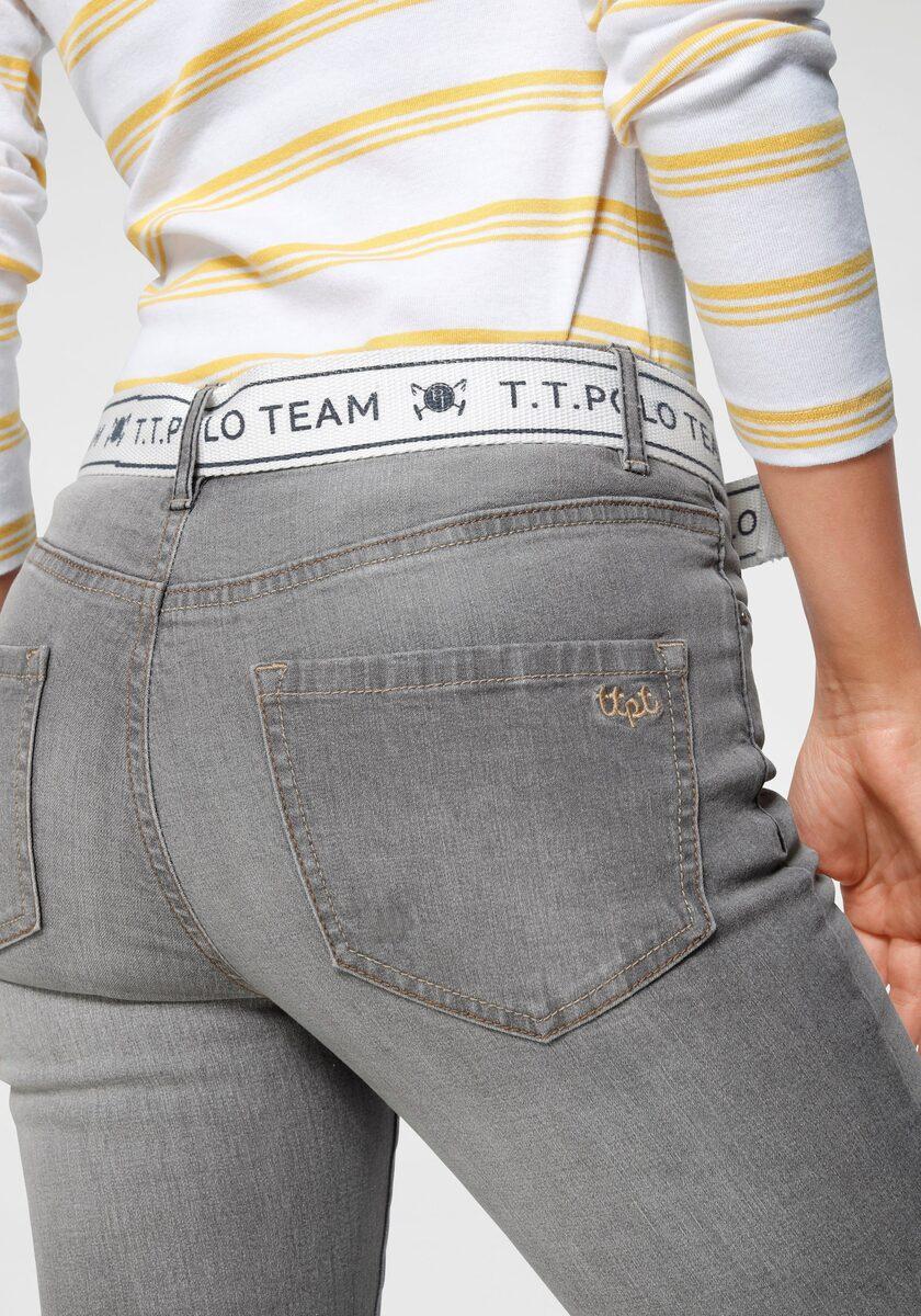 Bild 2 von TOM TAILOR Polo Team Slim-fit-Jeans (Set, 2-tlg., mit abnehmbarem Gürtel) mit sportivem Logo-Gürtel