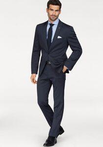 Bruno Banani Anzug (Set, 4-tlg., mit Krawatte und Einstecktuch) der perfekte Gentlemen Dress