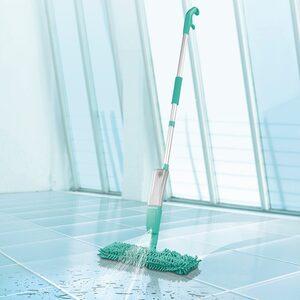 CLEANmaxx Wischmopp, Spray-Mopp 2in1 mit Wendefunktion türkis