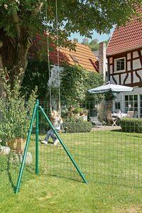 GAH ALBERTS Zaun-Außenecke »Fix-Clip Pro®«, Eck-Set für Maschendrahthöhe 122 cm, zum Einbetonieren
