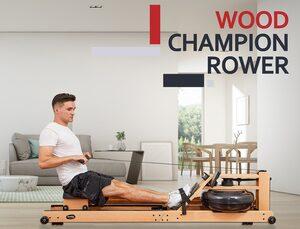 """body coach Ruderzugmaschine »Holz Wasser-Rudergerät """"Wood Champion Rower"""" Ruderzugmaschine mit Water Resistance System klappbar«"""