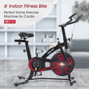 Merax Speedbike, Heimtrainer Fahrrad, Indoor Cycle, mit LCD-Konsole