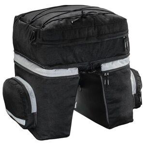 Hama Gepäckträgertasche Fahrrad 3tlg mit Rucksack u. Regenschutz »Fahrradtasche Gepäckträger 40l«