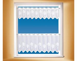 Scheibengardine Set weiß ca. 30+50 x 150cm