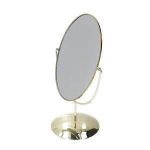 Tischspiegel oval  31,5 x 19,5 x 14 cm in Goldoptik