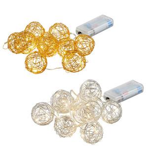 ProVida LED-Lichterkette Drahtkugeln 20 warmweiße LEDs in verschiedenen Farben