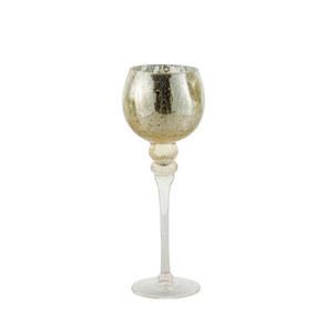Glaswindlicht Kelch auf Fuß Cracking Champagner M 35 cm